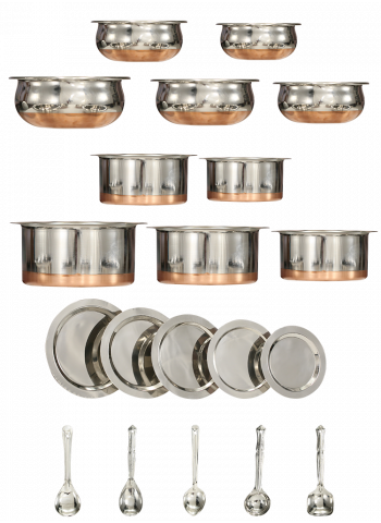 Kitchen Zone 20 Pcs Copper Bottom Set