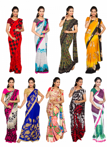 Classic 9 Georgette Saree Collection