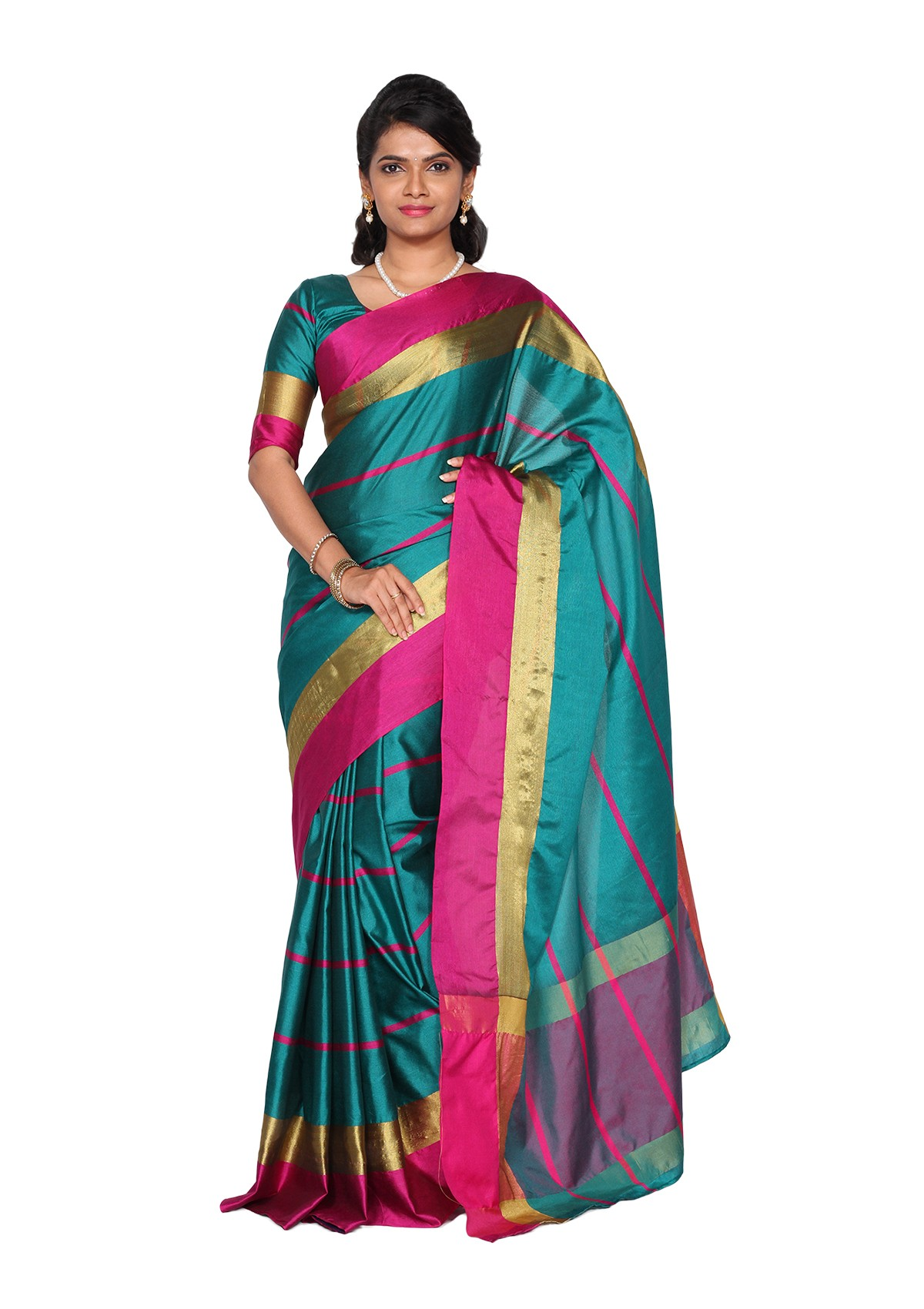 Assorted 6 Cotton Silk Saree Collections New Arrivals