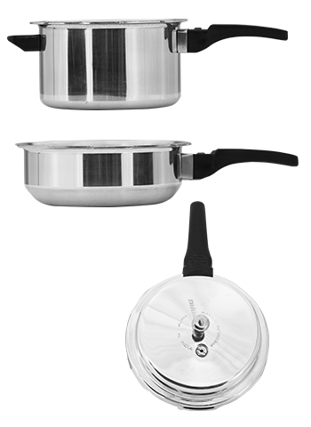 Induction Based Pressure Cooker Set 5Ltr Plus 3 Ltr