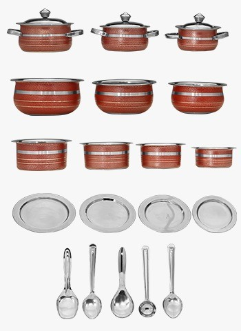 22 Pcs Colored Stainless Steel Induction Cookware Set